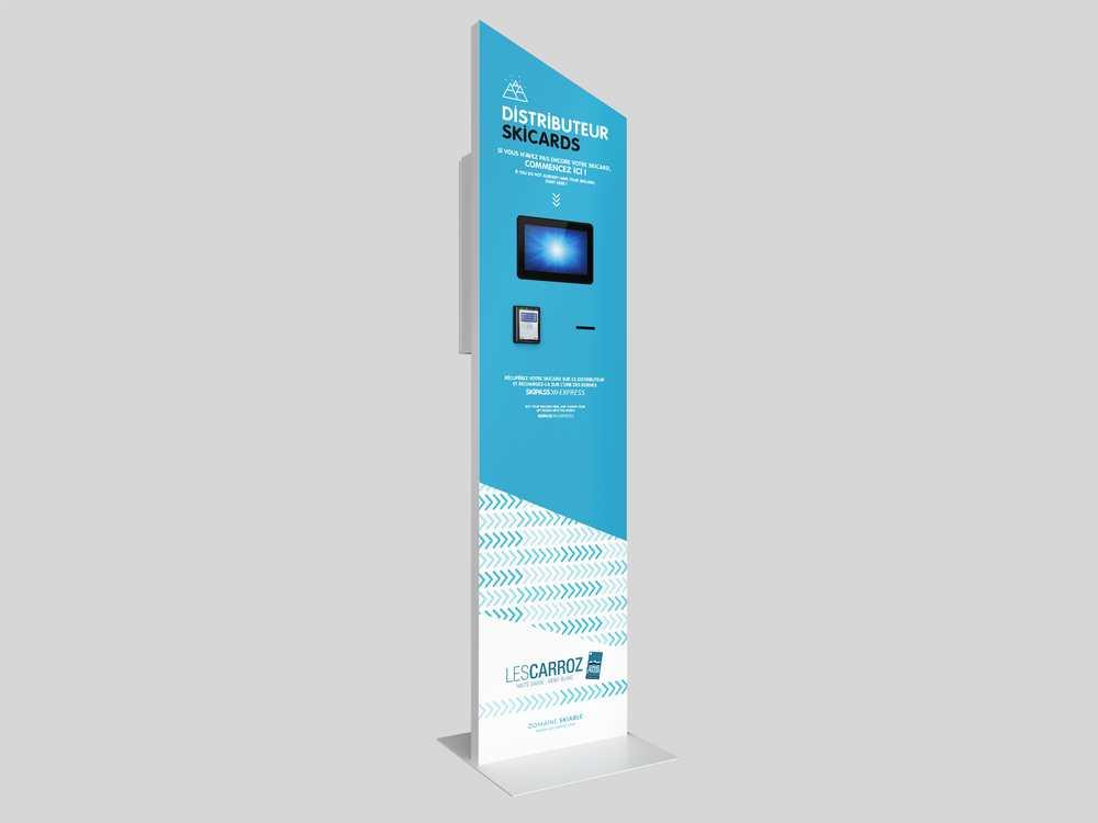 Automate de distribution de ski card